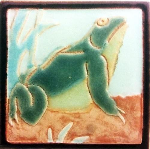 A handmade tile by Franklin Faience