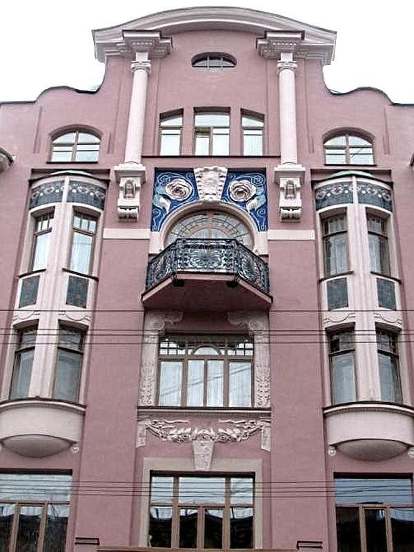 Ceramic facade panels on Badaev's house
