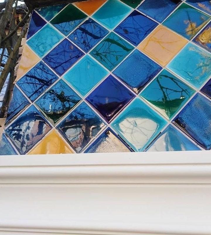 Golden autumn collection facade ceramic tiles