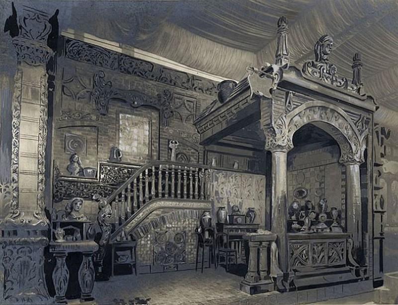 Bigot's pavilion on Exposition Universelle 1900 in Paris