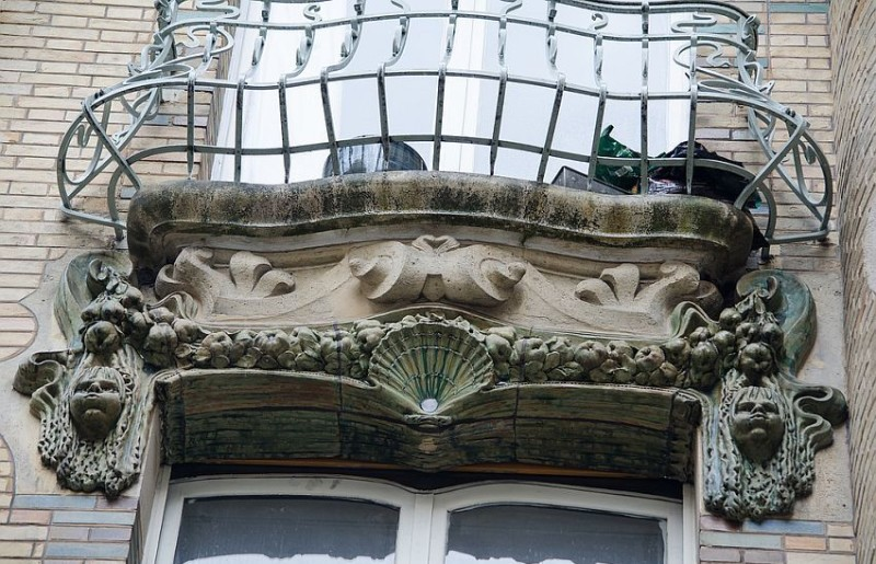 Balcony ceramic decors of Lavirotte's House