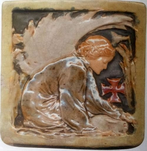 A tile by Russel Crook. 1923