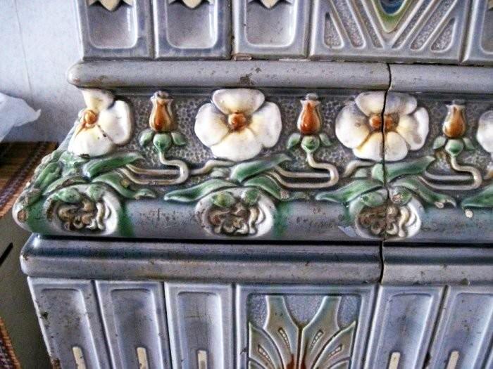 Art Nouveau tiled stoves