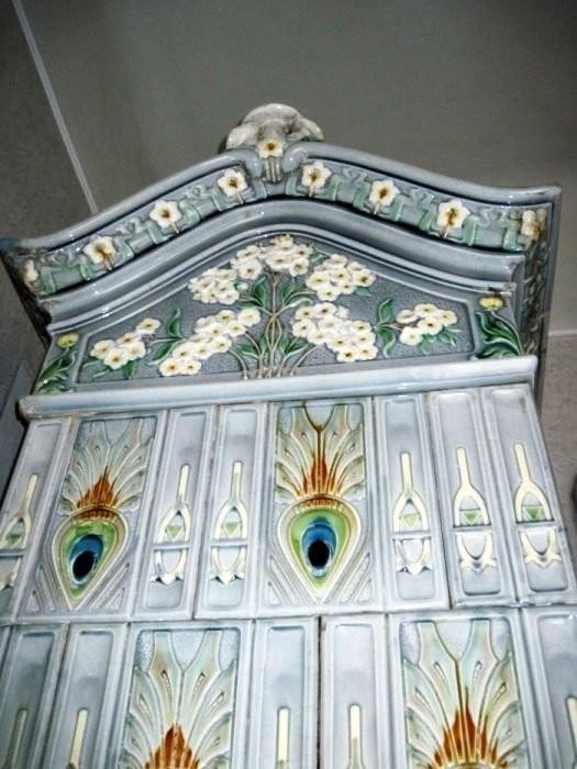 Art Nouveau tiled stoves in Lvov