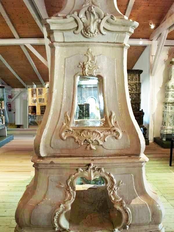 Antique ceramic stoves in Velten museum