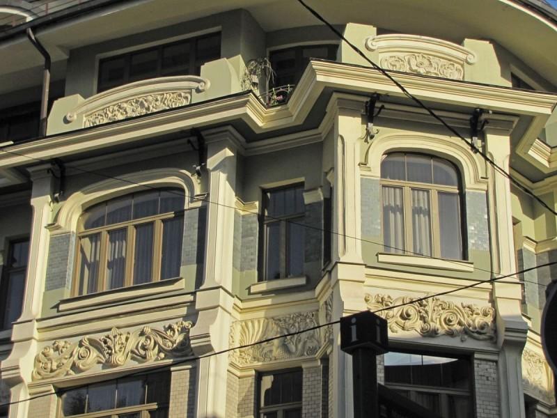 Vilner's tenement house (1904, N.I. Zherikhov) Architectural ceramics of Moscow Art Nouveau