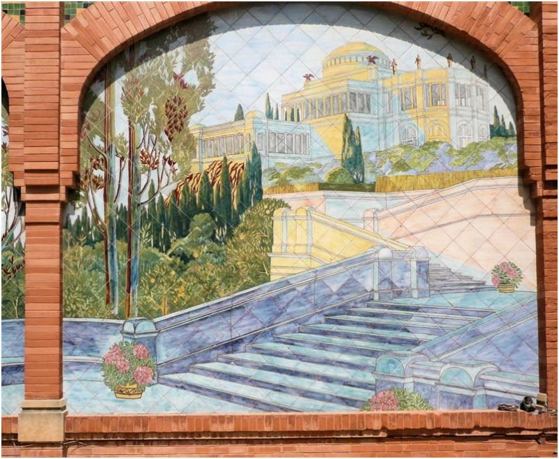 Ceramic mural in Casa Navas in Tarragona