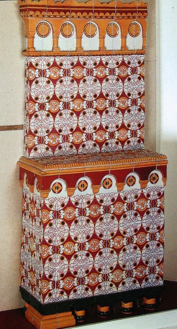 Ceramic stove from Romanovs' House Museum. Based on Richter's sketches. 1858