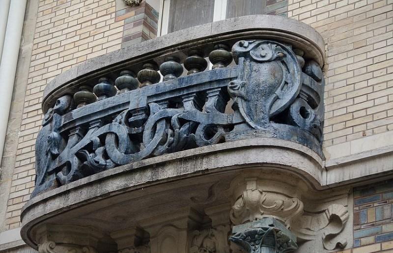 Balcony ceramic decor of Lavirotte's House