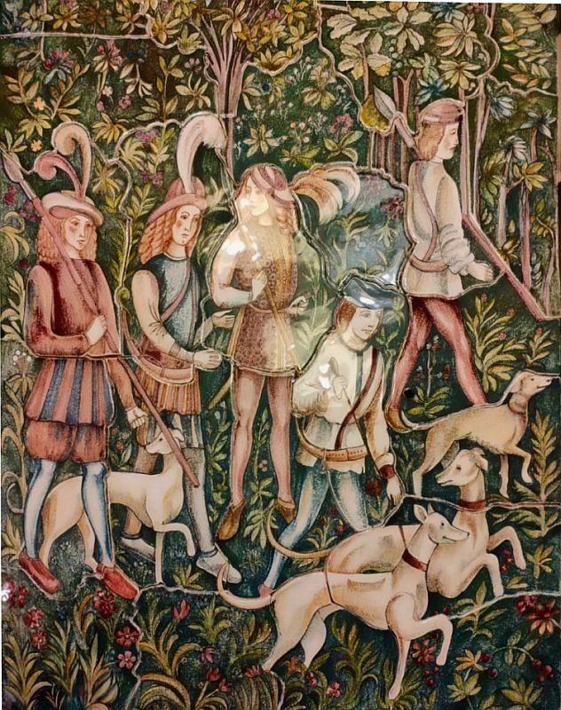 Fresque en céramique murale
