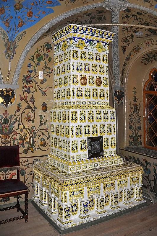 Tiled stoves in Moscow Kremlin