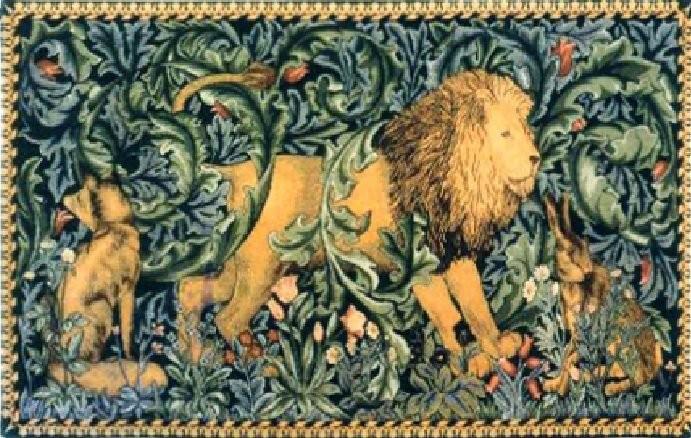 Morris's workshop, Lion tapestry
