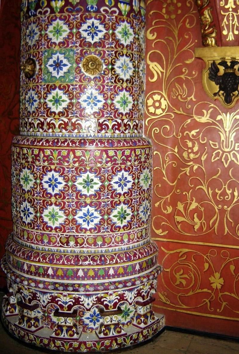 Round ceramic stove in Kremlin's Terem Palace